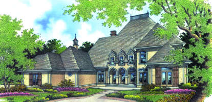 3 Bed, 4 Bath, 3096 Square Foot House Plan - #048-00183