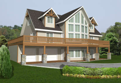 3 Bed, 2 Bath, 2616 Square Foot House Plan - #039-00530