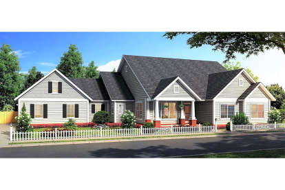 4 Bed, 3 Bath, 2487 Square Foot House Plan - #4848-00349