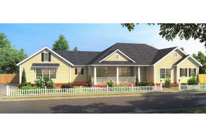 3 Bed, 2 Bath, 1639 Square Foot House Plan - #4848-00352