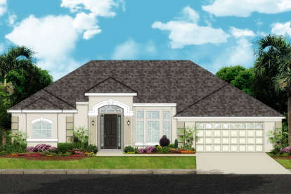 4 Bed, 3 Bath, 2407 Square Foot House Plan - #3978-00165