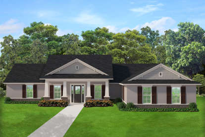 3 Bed, 2 Bath, 2635 Square Foot House Plan - #3978-00168