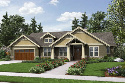 3 Bed, 2 Bath, 1868 Square Foot House Plan - #2559-00667