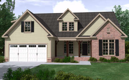 4 Bed, 3 Bath, 3042 Square Foot House Plan - #6939-00016