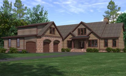 3 Bed, 2 Bath, 3742 Square Foot House Plan - #6939-00017