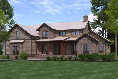 4 Bed, 3 Bath, 3323 Square Foot House Plan - #6939-00021
