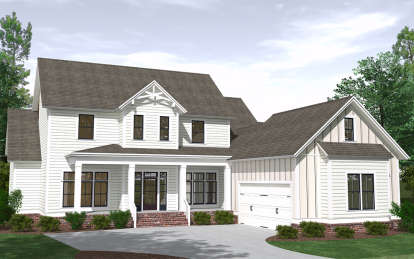 5 Bed, 4 Bath, 3820 Square Foot House Plan - #6939-00022