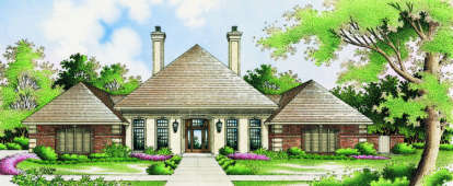 4 Bed, 4 Bath, 3038 Square Foot House Plan - #048-00187