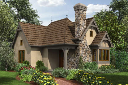 1 Bed, 1 Bath, 544 Square Foot House Plan #2559-00684