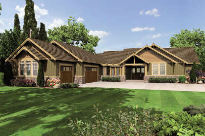4 Bed, 2 Bath, 2999 Square Foot House Plan - #2559-00691