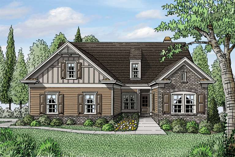 House Plan #3418-00010 Elevation Photo