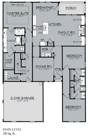 Main Floor for House Plan #3418-00010