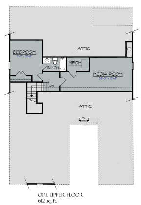 Upper Floor for House Plan #3418-00010