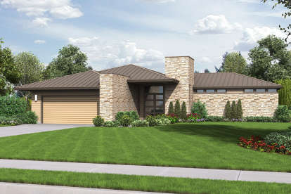 3 Bed, 2 Bath, 2159 Square Foot House Plan - #2559-00701
