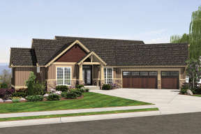 Craftsman House Plan #2559-00708 Elevation Photo