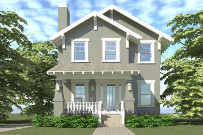 3 Bed, 2 Bath, 1586 Square Foot House Plan #028-00038