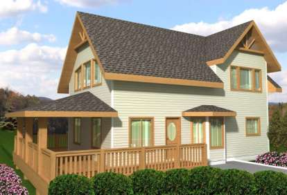 1 Bed, 2 Bath, 1152 Square Foot House Plan - #039-00539