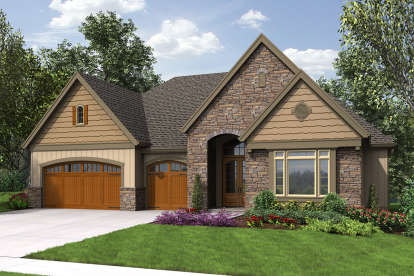 4 Bed, 3 Bath, 3602 Square Foot House Plan - #2559-00712