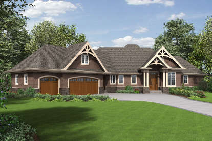 3 Bed, 2 Bath, 3806 Square Foot House Plan - #2559-00715