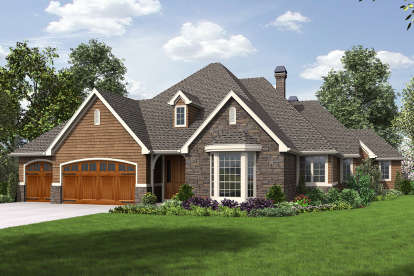 3 Bed, 2 Bath, 3044 Square Foot House Plan - #2559-00716