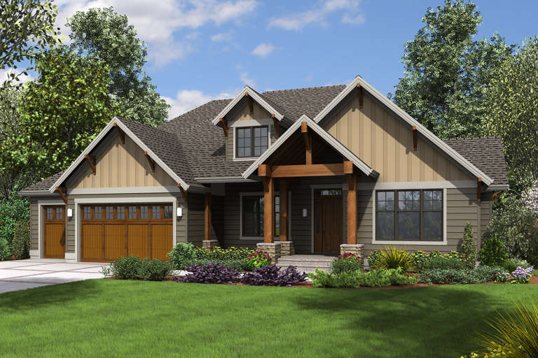 Craftsman House Plan #2559-00720 Elevation Photo