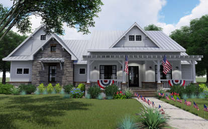 3 Bed, 2 Bath, 2270 Square Foot House Plan - #9401-00097