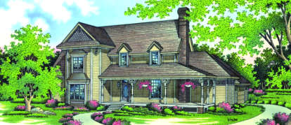 4 Bed, 3 Bath, 3162 Square Foot House Plan - #048-00188