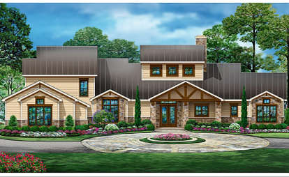 4 Bed, 4 Bath, 3990 Square Foot House Plan - #5445-00339