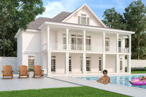 Country House Plan #048-00262 Elevation Photo