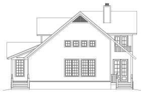 Vacation House Plan #940-00109 Elevation Photo