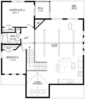 Second Floor for House Plan #940-00109