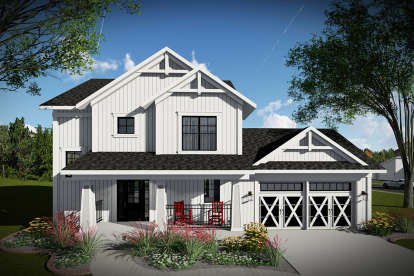 3 Bed, 2 Bath, 1495 Square Foot House Plan - #1020-00003