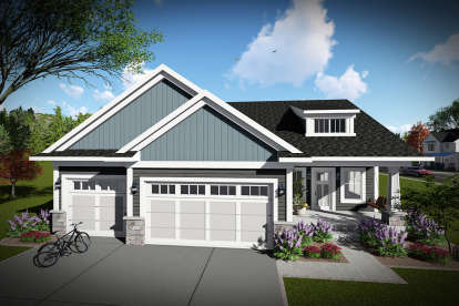 3 Bed, 2 Bath, 1681 Square Foot House Plan - #1020-00006