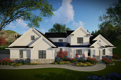 4 Bed, 4 Bath, 3205 Square Foot House Plan #1020-00018