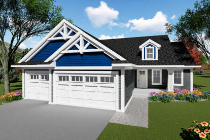 3 Bed, 2 Bath, 1583 Square Foot House Plan - #1020-00024