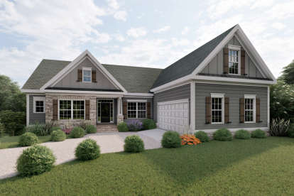 3 Bed, 2 Bath, 1732 Square Foot House Plan - #009-00004