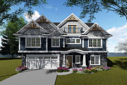 5 Bed, 5 Bath, 4856 Square Foot House Plan - #1020-00045