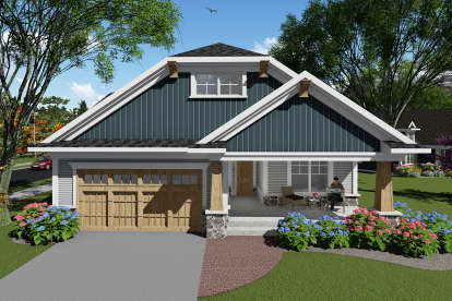 2 Bed, 2 Bath, 1588 Square Foot House Plan - #1020-00054