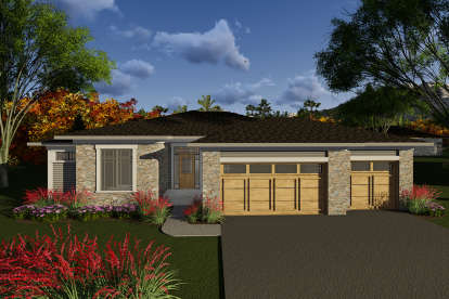 3 Bed, 2 Bath, 1800 Square Foot House Plan #1020-00056
