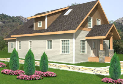 2 Bed, 2 Bath, 1371 Square Foot House Plan - #039-00548