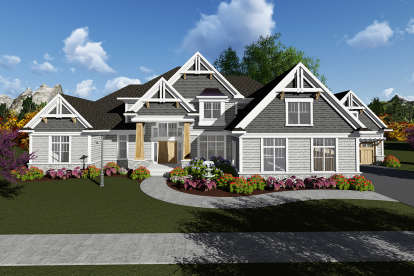 4 Bed, 3 Bath, 5014 Square Foot House Plan - #1020-00086
