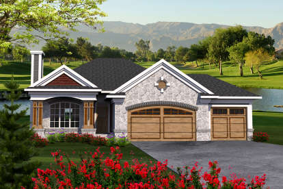 3 Bed, 2 Bath, 1500 Square Foot House Plan - #1020-00087