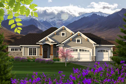 2 Bed, 2 Bath, 1709 Square Foot House Plan - #1020-00088