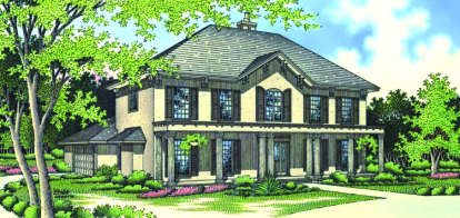 4 Bed, 3 Bath, 3371 Square Foot House Plan - #048-00195