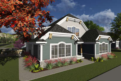 2 Bed, 2 Bath, 1743 Square Foot House Plan - #1020-00121