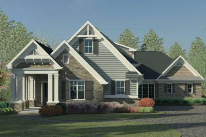 4 Bed, 4 Bath, 2906 Square Foot House Plan - #6082-00142