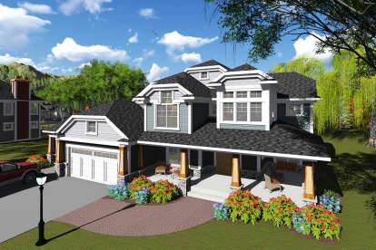 6 Bed, 4 Bath, 5157 Square Foot House Plan - #1020-00134