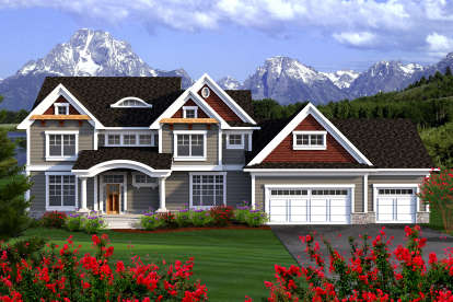 5 Bed, 3 Bath, 3660 Square Foot House Plan - #1020-00161