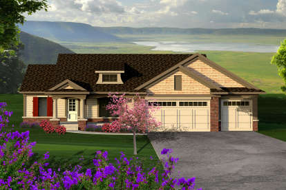 3 Bed, 2 Bath, 1282 Square Foot House Plan - #1020-00162
