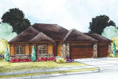 2 Bed, 3 Bath, 1750 Square Foot House Plan - #402-01557